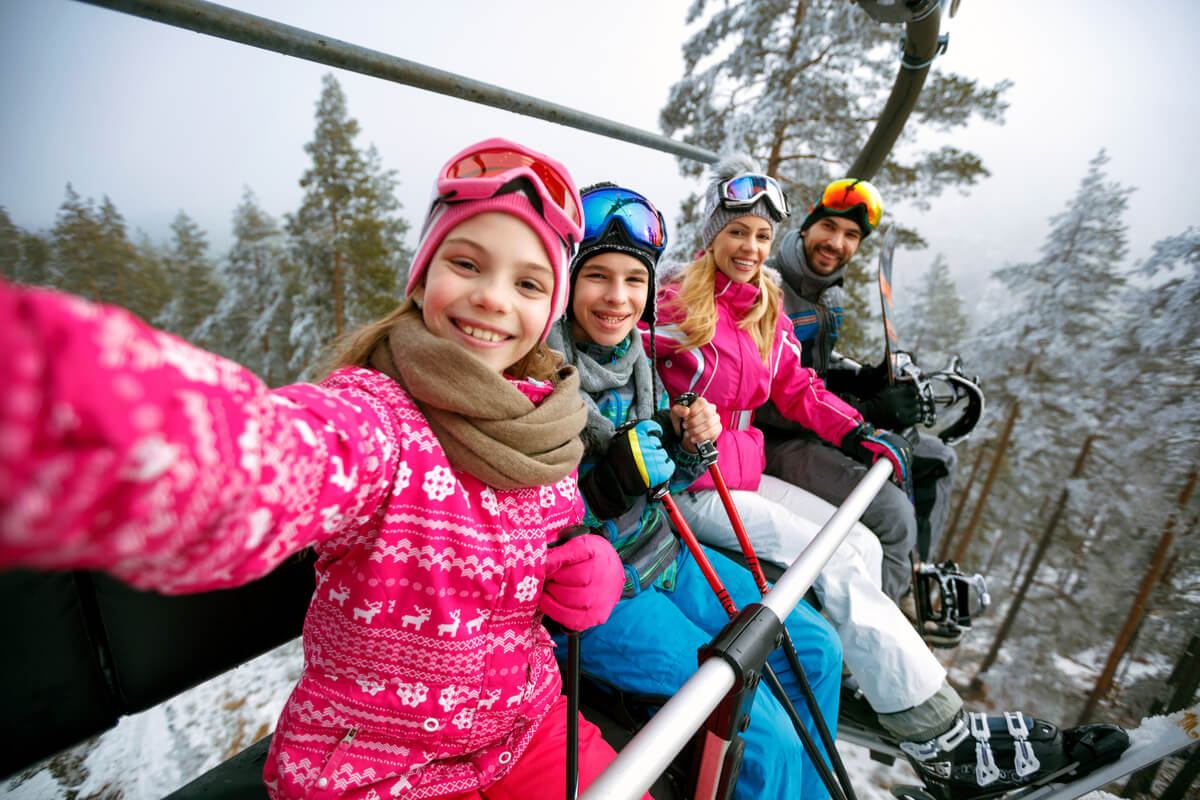 Family ski trip for spring break