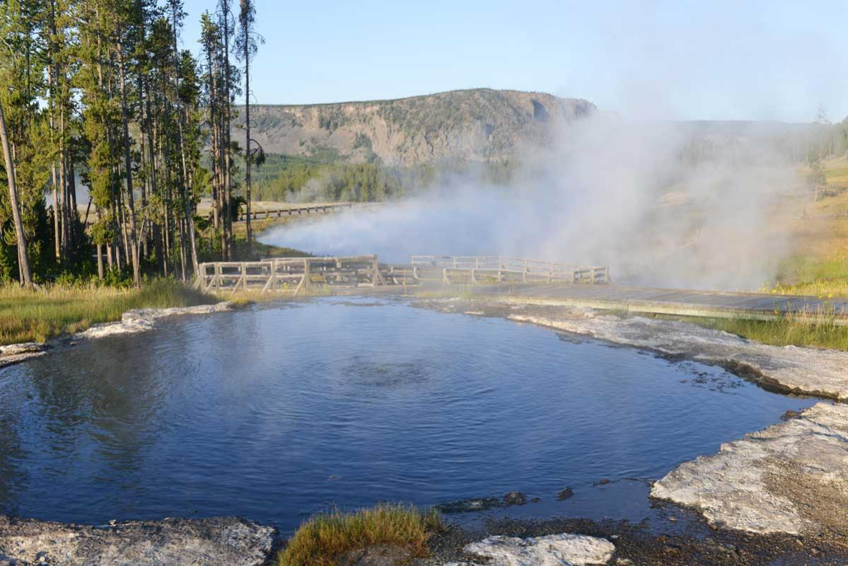 Hot springs after river rafting