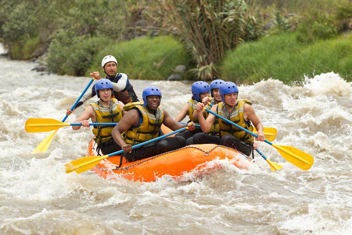 river rafting on the salmon