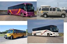 Buses, motor coaches and shuttles