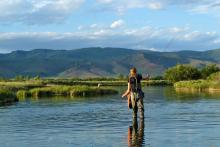 Fly fishing in Idaho