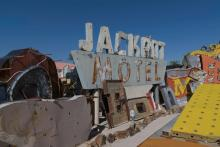 Jackpot Nevada historical sign